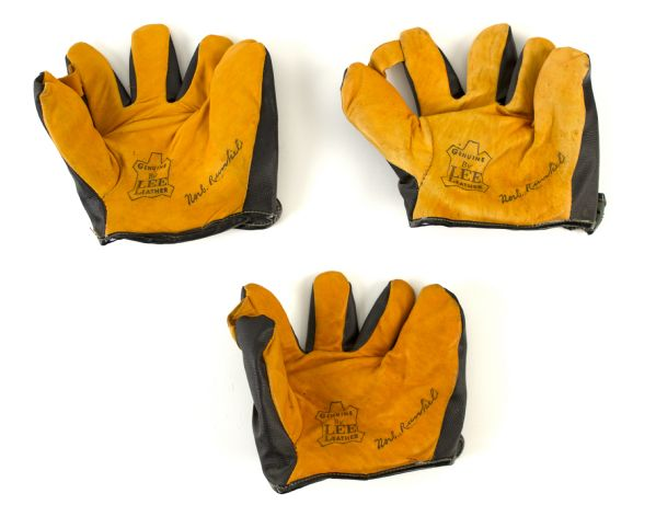 1950s Lee Leather Norb. Runkel Signature Model Baseball Glove (Lot of 3)