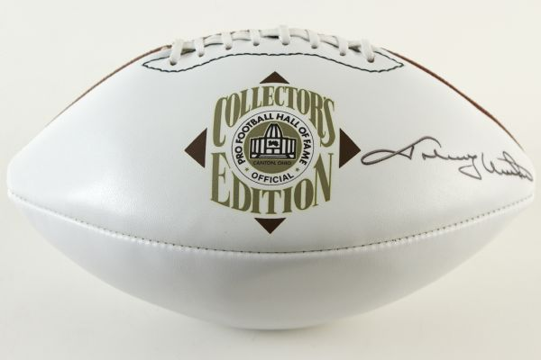 1990s Johnny Unitas Signed Pro Football Hall of Fame Collectors Edition Football (Pro Football HOF COA)