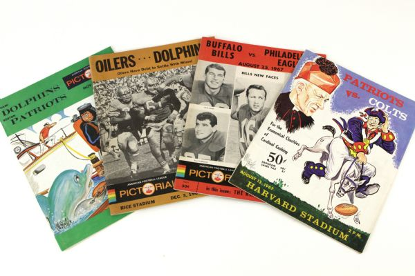 1966-69 American Football League Game Program Collection - Lot of 16