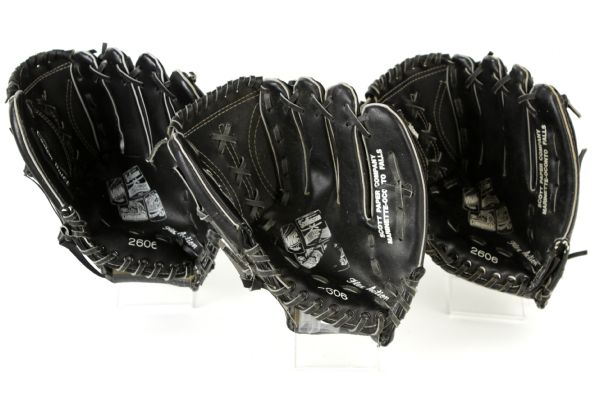 1980s Paul Molitor Robin Yount Milwaukee Brewers Promotional Model Youth Baseball Gloves - Lot of 7