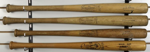 1950s-70s Jackie Robinson Brooklyn Dodgers Louisville Slugger Store Model Bat Collection - Lot of 4