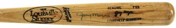1988-89 Joey Meyer Milwaukee Brewers Signed Louisville Slugger Professional Model Game Used Bat (MEARS Authentic)