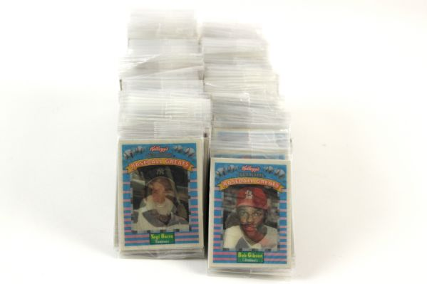 1990s Kelloggs Corn Flakes Baseball Greats & All Star Hologram Cards Still Individually Sealed - Lot of 200+