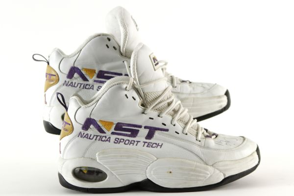 2000 Glen Rice Los Angeles Lakers Signed Nautica Sport Tech Game Worn Shoes w/ Championship Game Inscription - JSA/MEARS LOA (Ed Borash Collection)