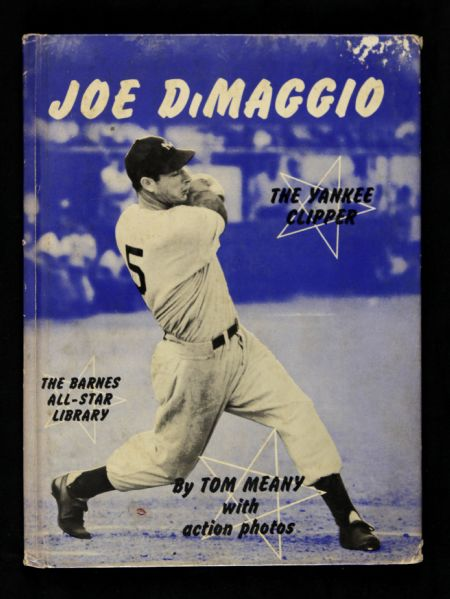1951 Joe DiMaggio The Yankee Clipper Barnes All Star Library Hardcover Book