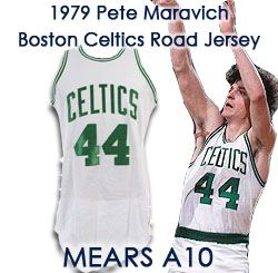 1979 Pete Maravich (MARIVICH, sp) Final Pre Season Boston Celtics Game Worn Road Jersey – MEARS A10 (Ed Borash Collection)