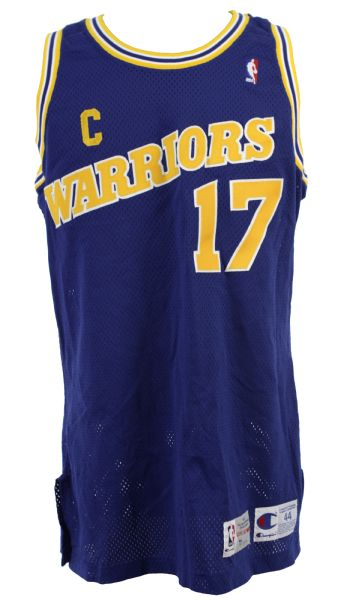 1992-93 Chris Mullin Golden State Warriors Game Worn Road Jersey - MEARS A10 (Ed Borash Collection)
