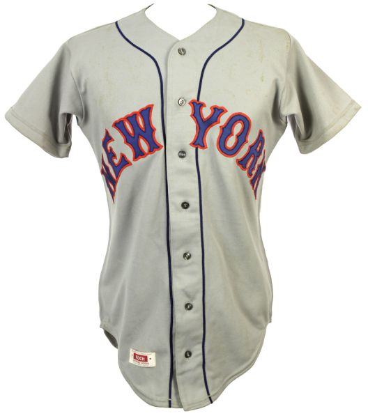 1977-81 Doug Flynn New York Mets Game Worn Road Jeresy (MEARS LOA)
