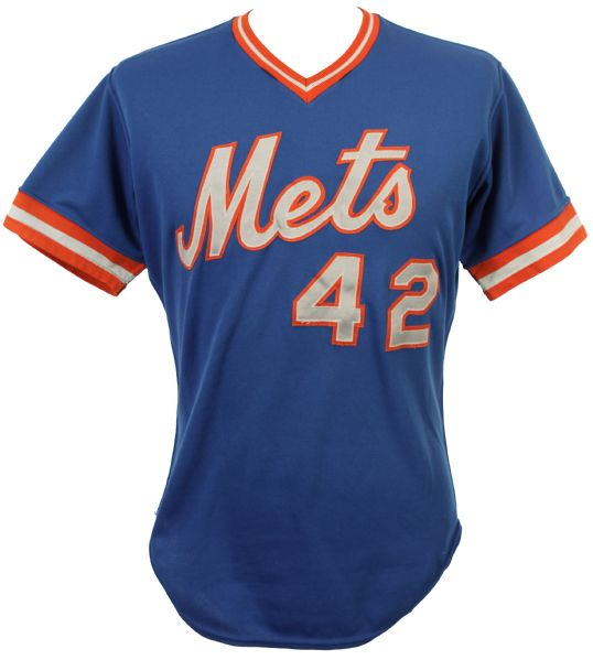 1984 Ron Hodges New York Mets Game Worn Alternate Blue Jersey (MEARS LOA)