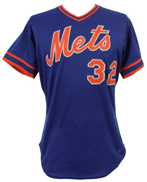 1982 Tom Hausman New York Mets Game Worn Alternate Blue Jersey (MEARS LOA)
