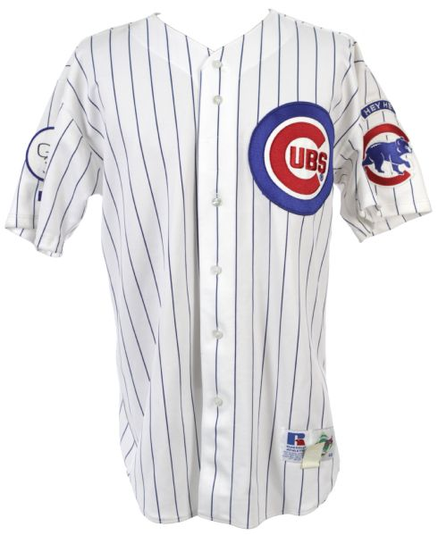 1998 Kurt Miller Chicago Cubs Game Worn Home Jersey (MEARS LOA)