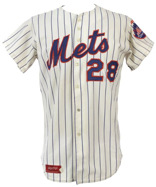 1976 John Milner New York Mets Game Worn Home Jersey (MEARS Authentic) - Missing 1976 patch and armband