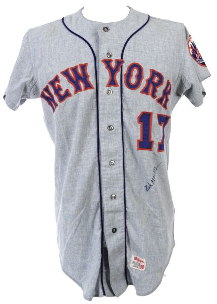 1971 Ted Maritnez New York Mets Signed Game Worn Road Jersey (MEARS A10/JSA)