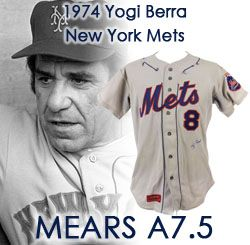 1974 Yogi Berra New York Mets Game Worn Road Jersey (MEARS A7.5)