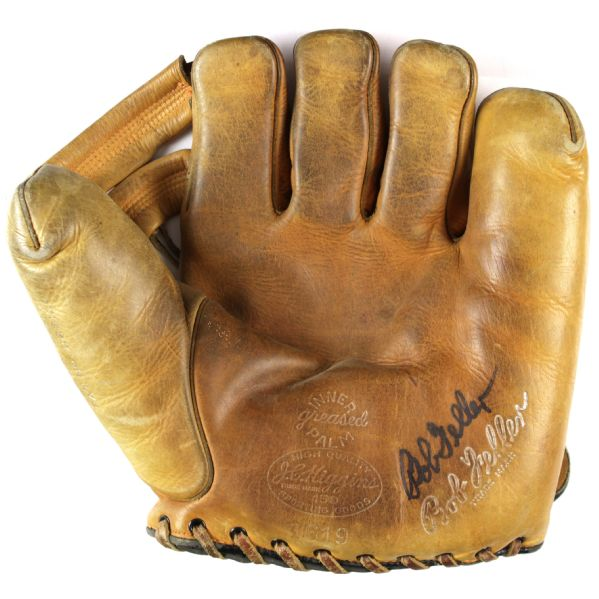 1940s Bob Feller Cleveland Indians Signed J.C. Higgins 1619 Store Model Player Endorsed Glove (MEARS LOA)