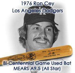 1976 Ron Cey Los Angeles Dodgers H&B Louisville Slugger Bicentennial Professional Model All Star Game Used Bat (MEARS A9.5)