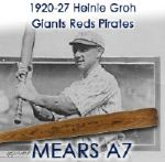 1920-27 Heinie Groh Giants/Reds/Pirates Krens Special Professional Model Game Used Bottle Bat (MEARS A6)