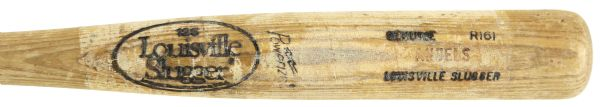 1985 California Angels Louisville Slugger Professional Model Team Index Bat (MEARS Authentic)