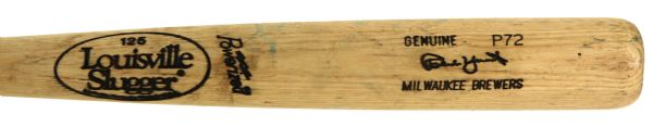 1991-93 Robin Yount Milwaukee Brewers Louisville Slugger Professional Model Game Used Bat (MEARS A9)