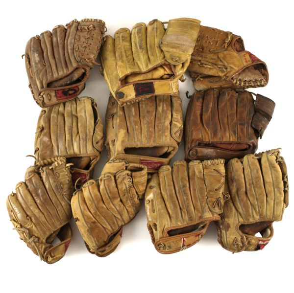 1950s-70s Mickey Mantle New York Yankees Store Model Player Endorsed Glove Collection - Lot of 19