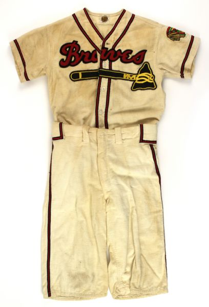 1953 Milwaukee Braves Flannel Youth Uniform