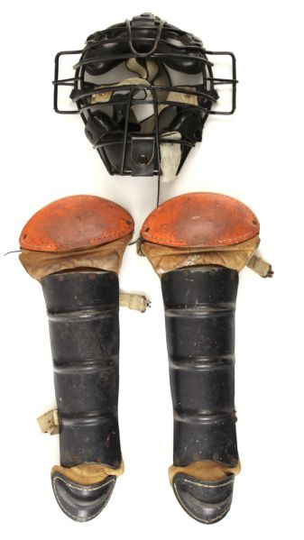 1950s-90s Store Model Catchers Masks Chest Protectors & Shin Guards - Lot of 20 - w/ spidermans mask
