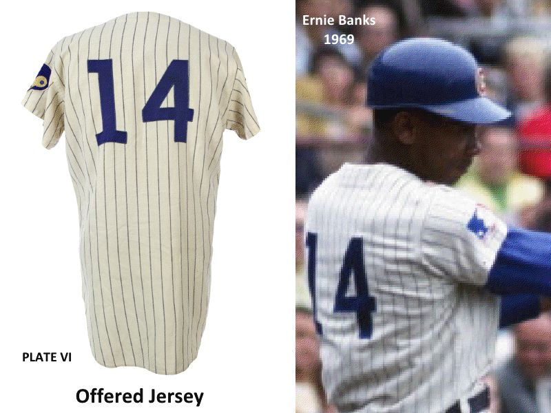 quality design d9e2b f7271 Lot Detail - 1969 Ernie Banks Chicago Cubs Signed Game Worn ...