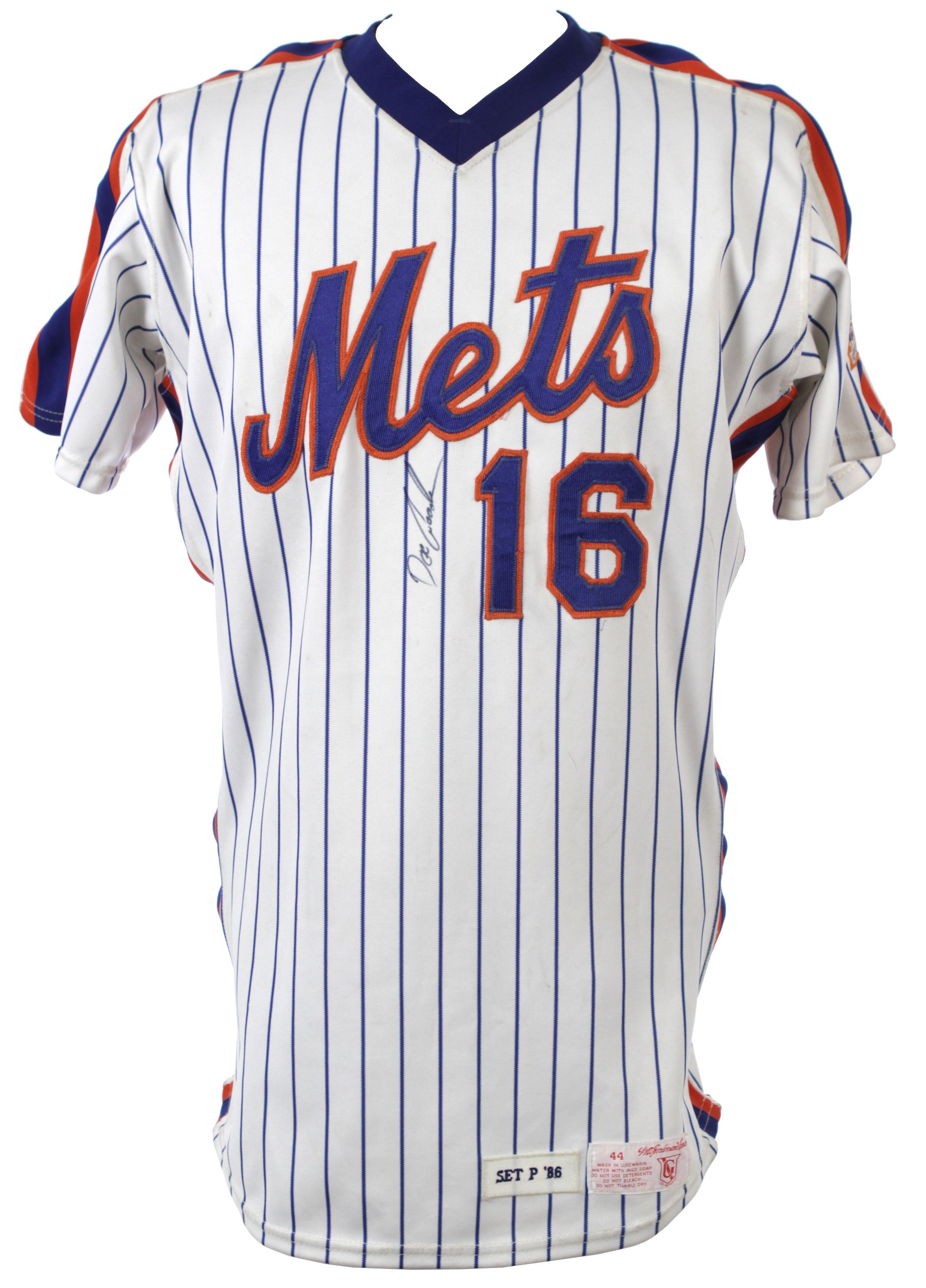 a32510ccb8a Lot Detail - 1986 Dwight Gooden New York Mets Signed Game Worn Home ...