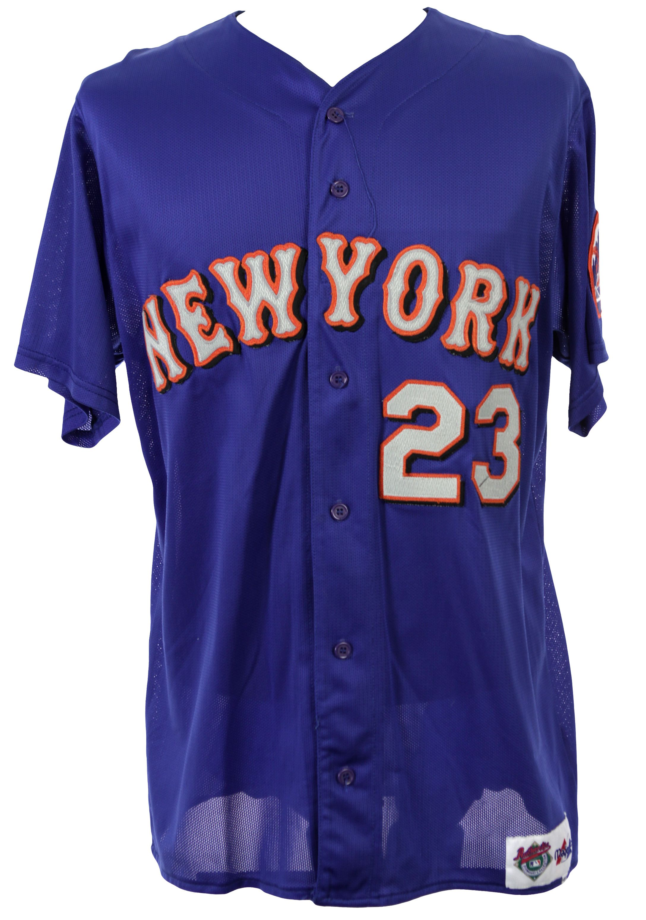 0d1ffe86676ab2 1998 Bernard Gilkey New York Mets Spring Training Game Worn Jersey (MEARS  LOA). Touch to zoom