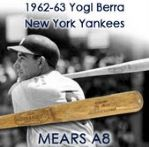 "1962-63 Yogi Berra New York Yankees H&B Louisville Slugger Professional Model Game Used Bat (MEARS A8) ""Used during his final seasons as a Yankee"""