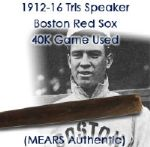 1914-16 Tris Speaker Boston Red Sox JF Hillerich & Sons Co. 40K Professional Model Game Used Bat (MEARS Authentic)