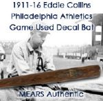 1911-16 Eddie Collins Philadelphia Athletics JF Hillerich & Son Co. Louisville Slugger Professional Model Game Used Decal Bat (MEARS Authentic)