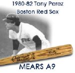 1980-82 Tony Perez Boston Red Sox Louisville Slugger Professional Model Game Used Bat (MEARS A9)