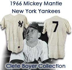 2f065c6e7 1966 Mickey Mantle New York Yankees Game Worn Home Jersey - Collection of  Clete Boyer (. Touch to zoom