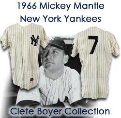 buy online 3e579 b31ee Lot Detail - 1966 Mickey Mantle New York Yankees Game Worn ...