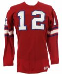 1967-72 Durene #12 Wilson Game Worn Football Jersey (MEARS LOA)