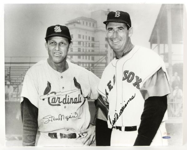 "1996 Ted Williams Stan Musial Signed 16"" x 20"" Photo (Upper Deck COA)"