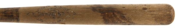 1924-30 High Pockets Kelly Giants/Reds Zinn Beck 100 Diamond Ace Professional Model Game Used Bat (MEARS LOA)