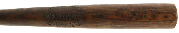 "1926 Patterson Minor Leagues H&B Louisville Slugger Professional Model Game Used Bat (MEARS LOA) Sidewritten ""7-7-26"""