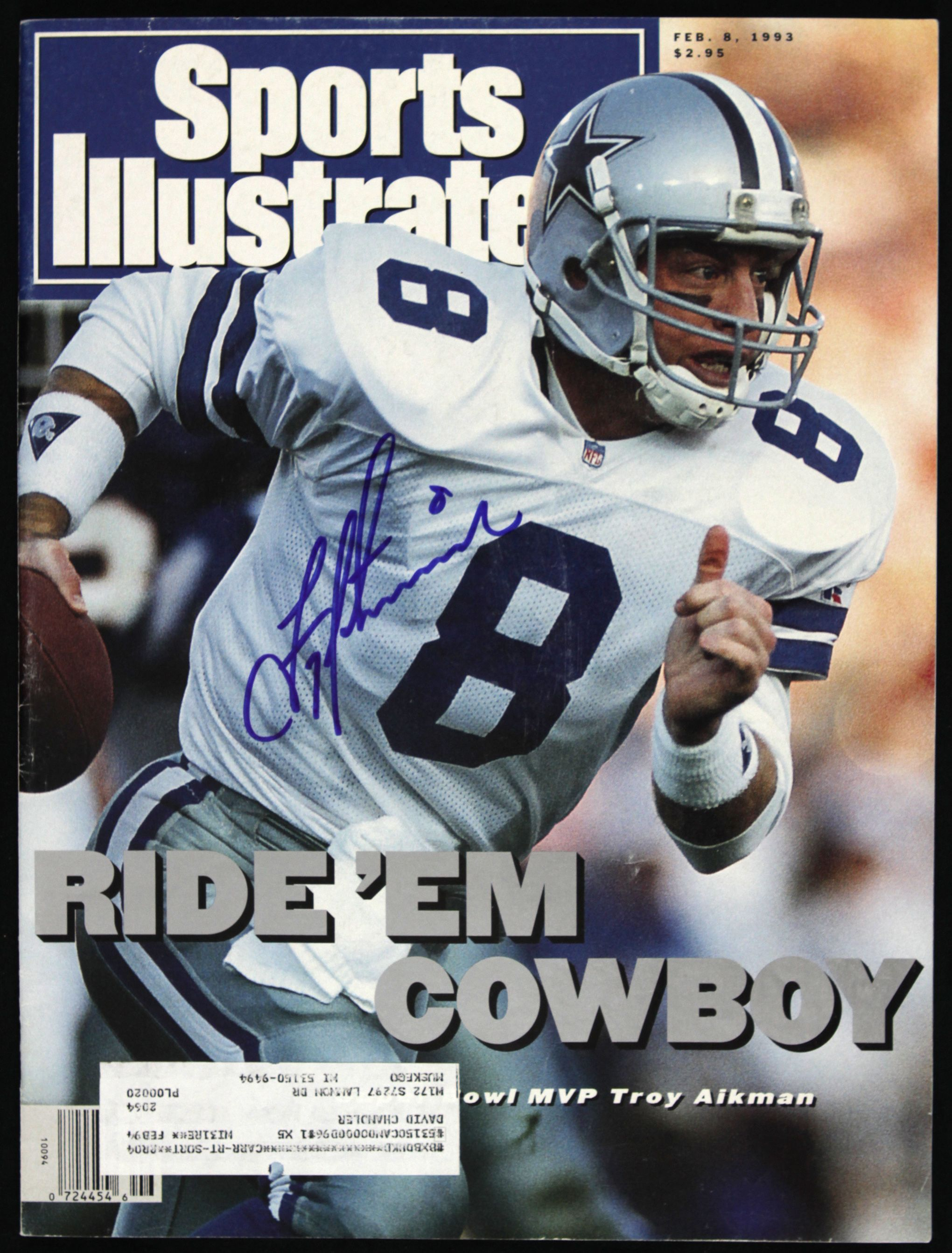 Lot Detail 1993 Troy Aikman Dallas Cowboys Signed Sports