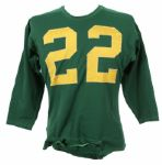 1957-59 University of Oregon Game Worn Durene Football Jersey w/ 6 Button Crotch Piece (MEARS LOA)