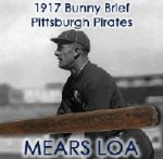 1917 Bunny Brief Pittsburgh Pirates H&B Louisville Slugger Professional Model Game Used Bat (MEARS LOA)