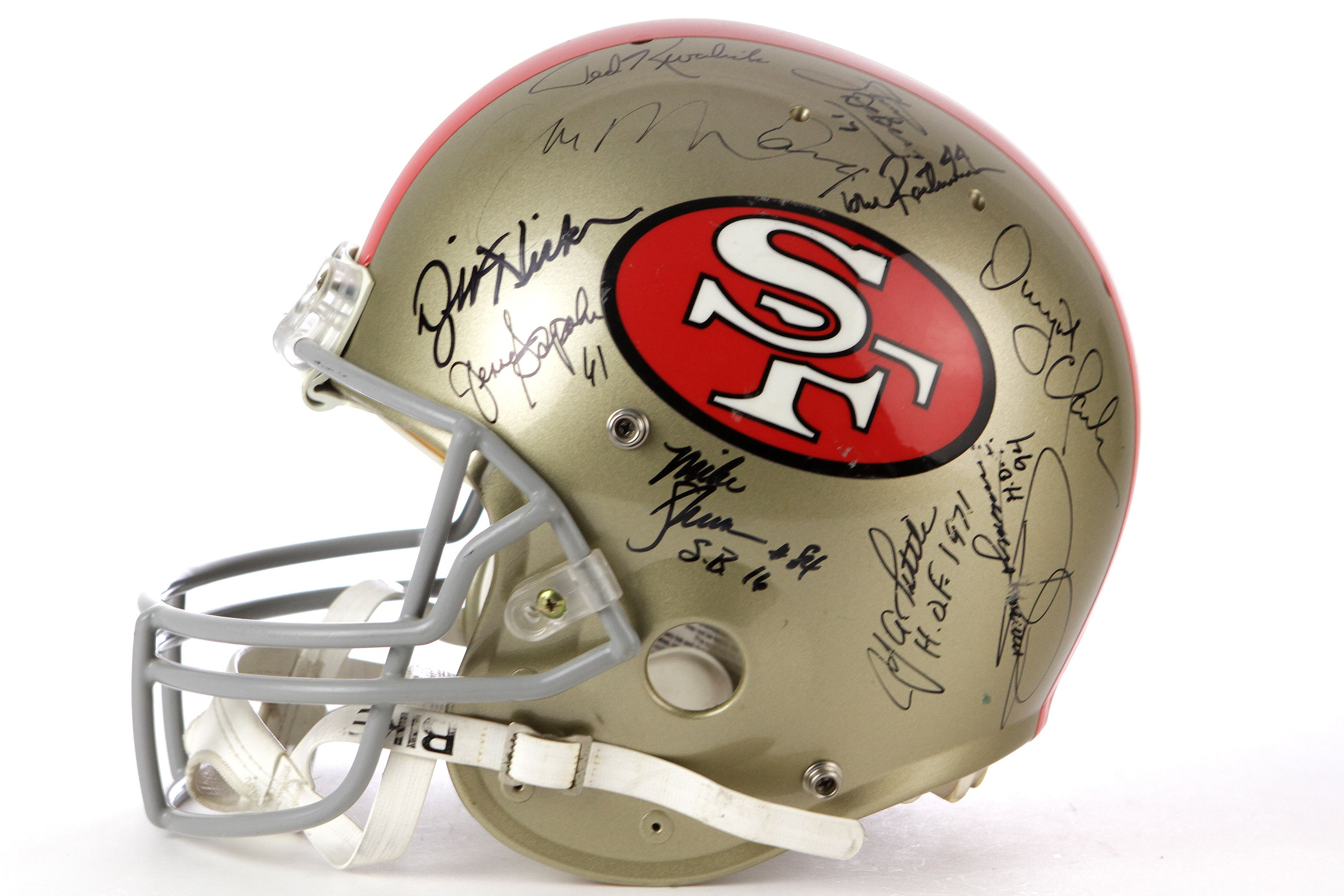 1218d9a45 1995 San Francisco 49ers Multi Signed Full Size Helmet w  20 Signatures  Including Joe Montana. Tap to expand