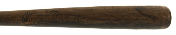 1916-17 Blank Barrel H&B Louisville Slugger Professional Model Game Used Bat (MEARS LOA)