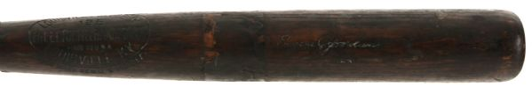 1921-31 Eugene Jordan Sidewritten H&B Louisville Slugger Professional Model Game Used Bat (MEARS LOA)
