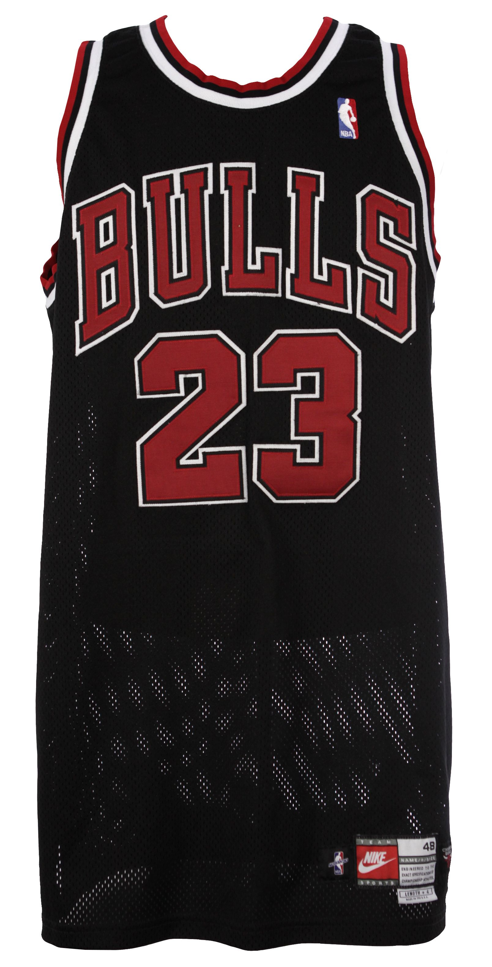 7dae156a725 Lot Detail - 1997-98 Michael Jordan Chicago Bulls Game Worn Alternate  Jersey (MEARS Auction LOA)