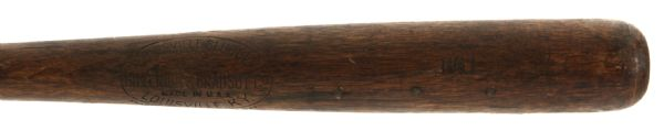 1921-31 Hall H&B Louisville Slugger Professional Model Game Used Bat (MEARS LOA)