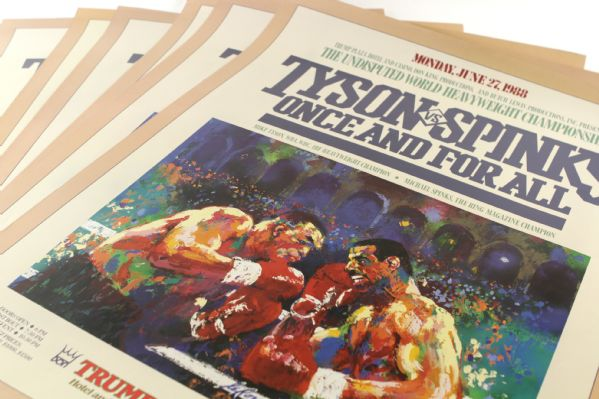"1988 26"" x 32"" Mike Tyson vs. Michael Spinks Heavyweight Championship Bout Poster - Lot of 6"