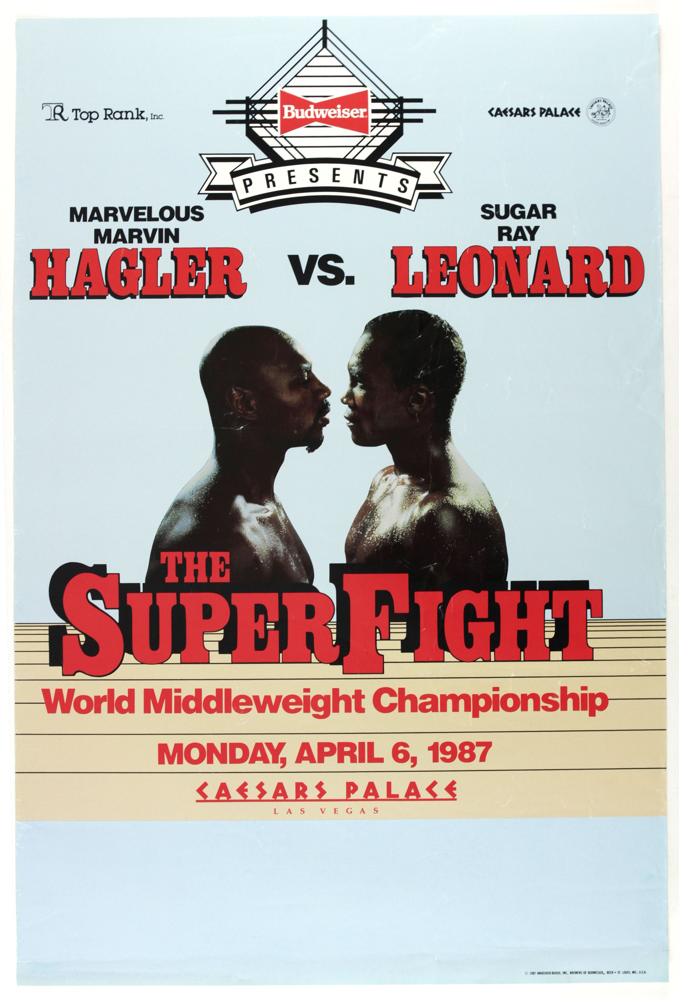 SUGAR RAY LEONARD MARVIN HAGLER Poster Boxing Poster 36 x 24 A