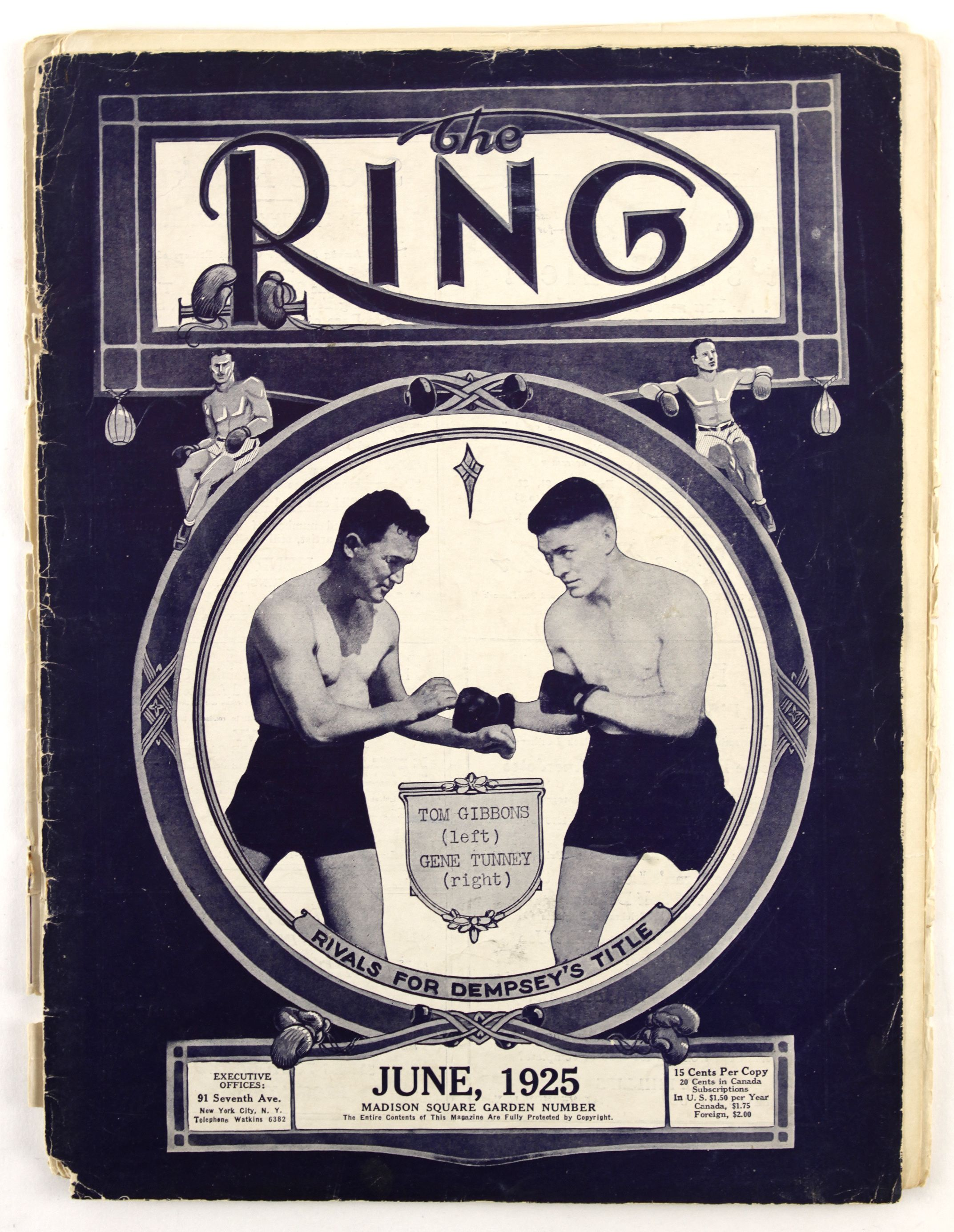 Lot Detail - 1920's-1990's Ring Magazine Lot of 3,751 Issues Tunney